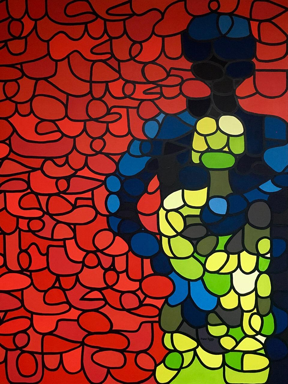 Ahmer Farooq<br></br>Mother & Son<br></br>Acrylics On Canvas<br></br>60x48 inches