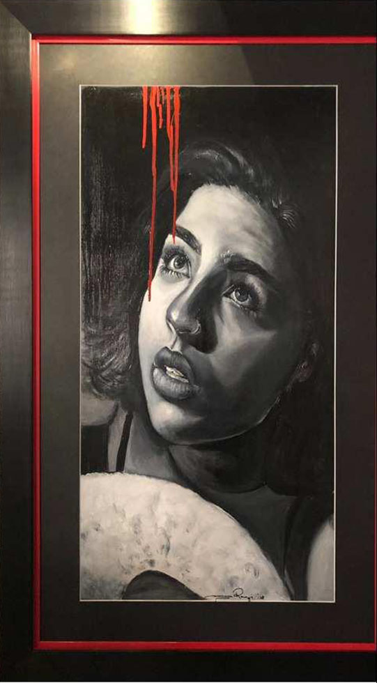 SAAMIYA RAAZI<br></br>LETTERS OTO MY DAUGHTER<br></br>OIL ON CANVAS<br></br>2018