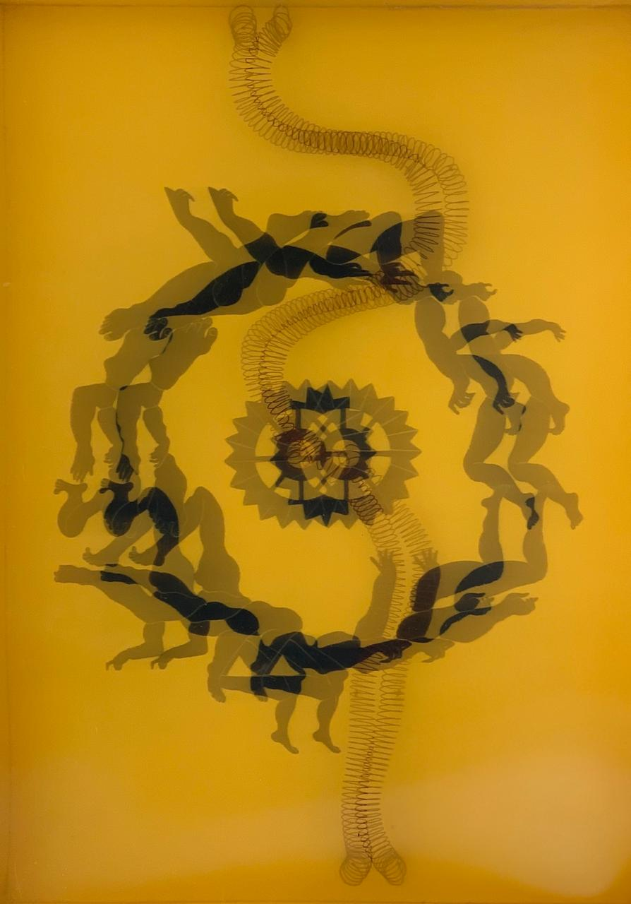 Rahman Zada<br></br>Of Human Bondage 5<br></br>Gauche and mixed media on Wasli<br></br>13x9.5 inches