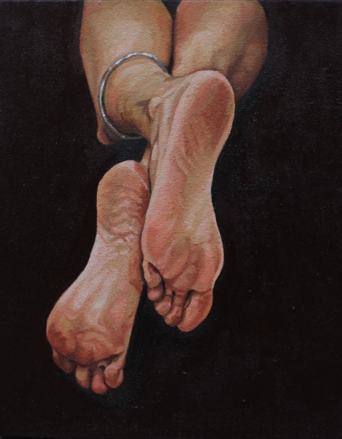 Title: There<br></br>8x10 inches<br></br>oil on canvas<br></br>2021