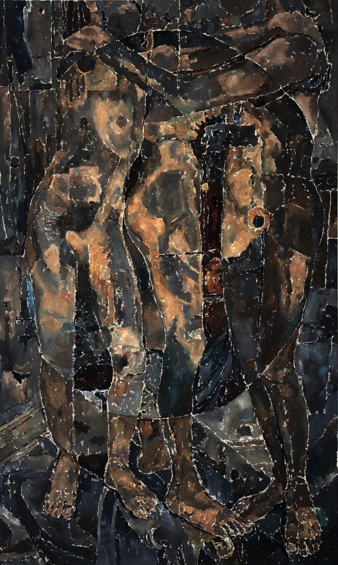 Title: ZAMAY II<br></br>Size: 36x60inche (vertical)<br></br>Medium: oil and canvas
