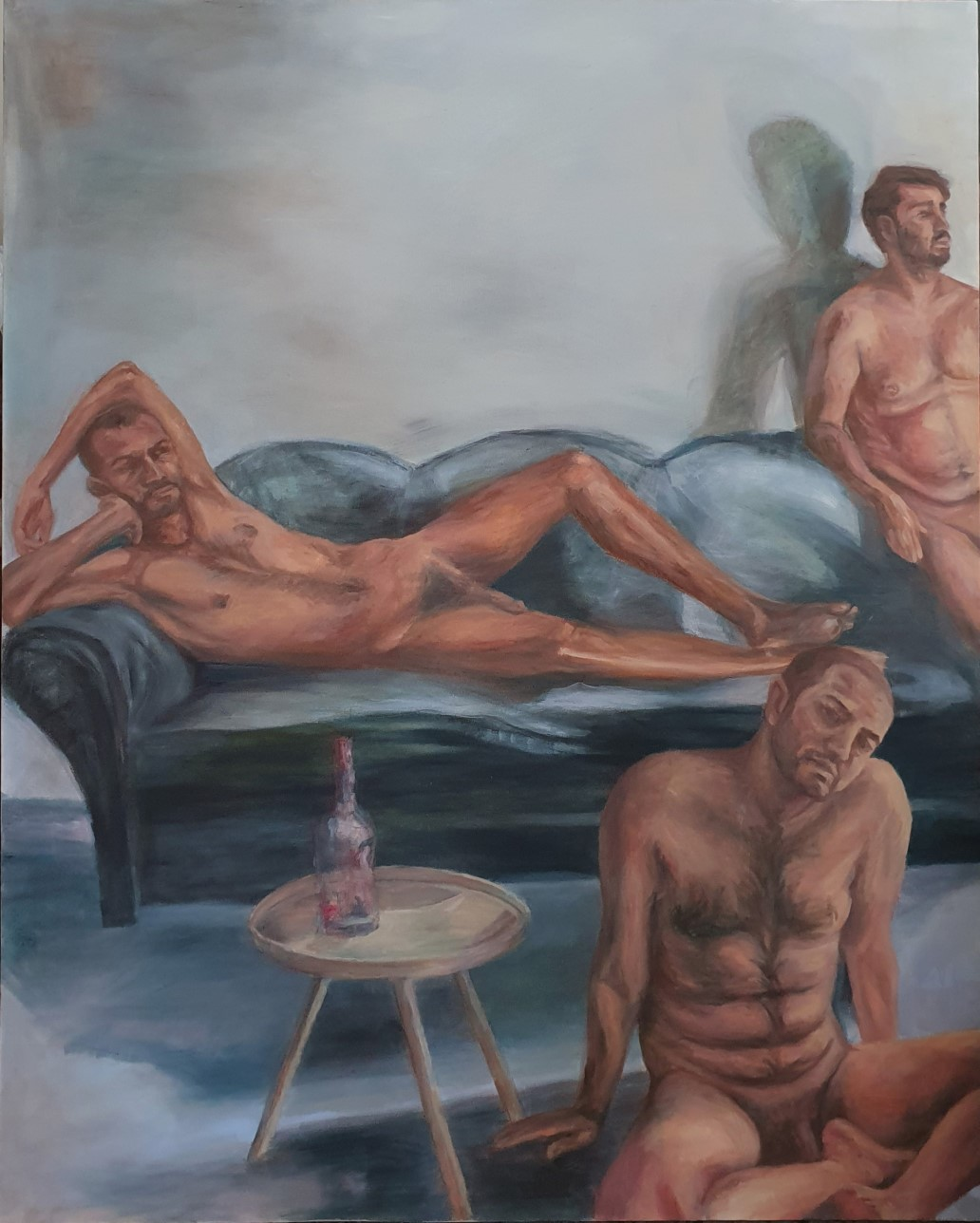 The quarantine Magnum Opus<br></br>59.6 x 48 inches (151 x 122 cm)<br></br>Oil on canvas<br></br>January, 2021