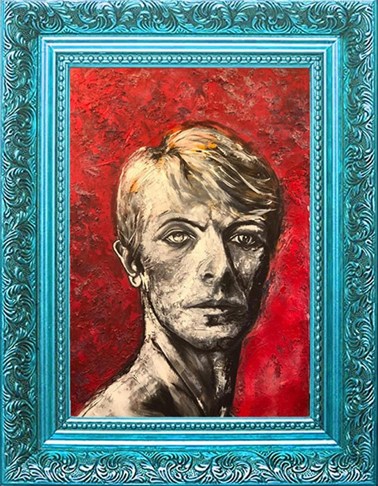 Saamiya Raazi<br></br>'The Thin White Duke'<br></br>Oil On Canvas<br></br>64x43 inches