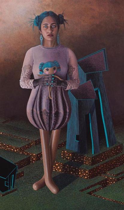 Irfan Gul Dahri Labryrinth<br></br>Acrylics on Canvas<br></br>48x36 inches