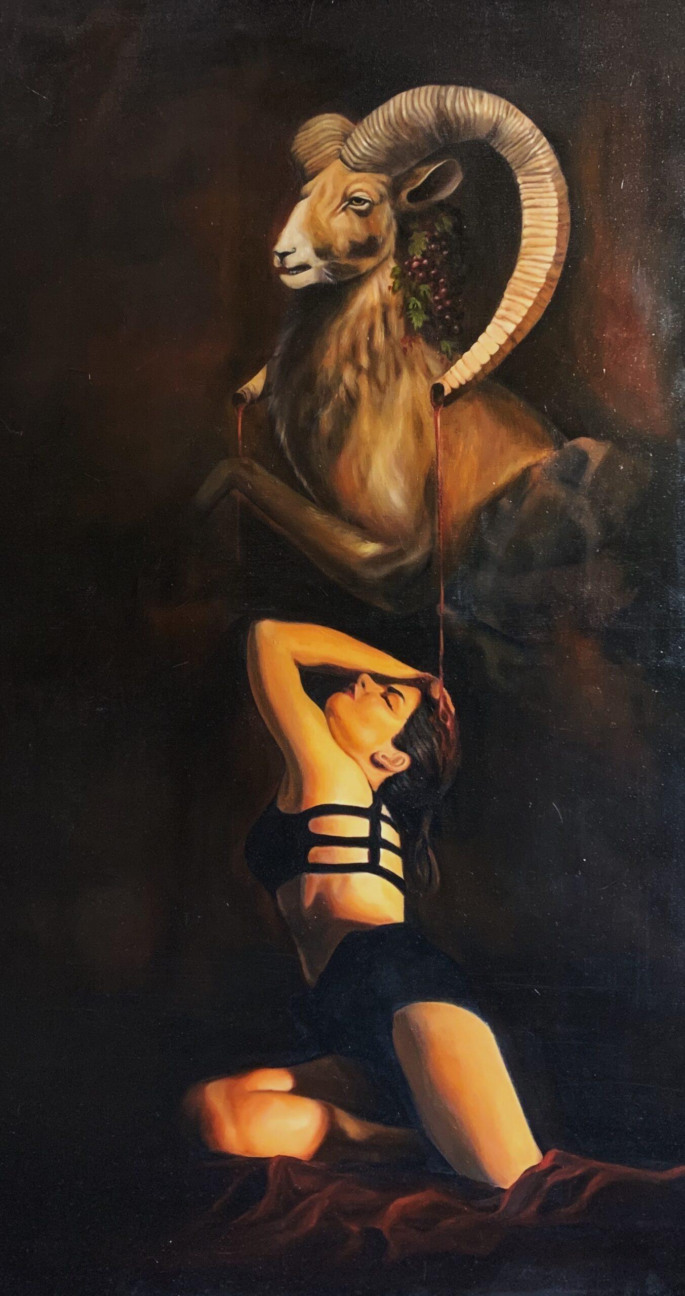 Araimish Malik<br></br>Paradiso Lost<br></br>Oil On Canvas<br></br>60x48 inches
