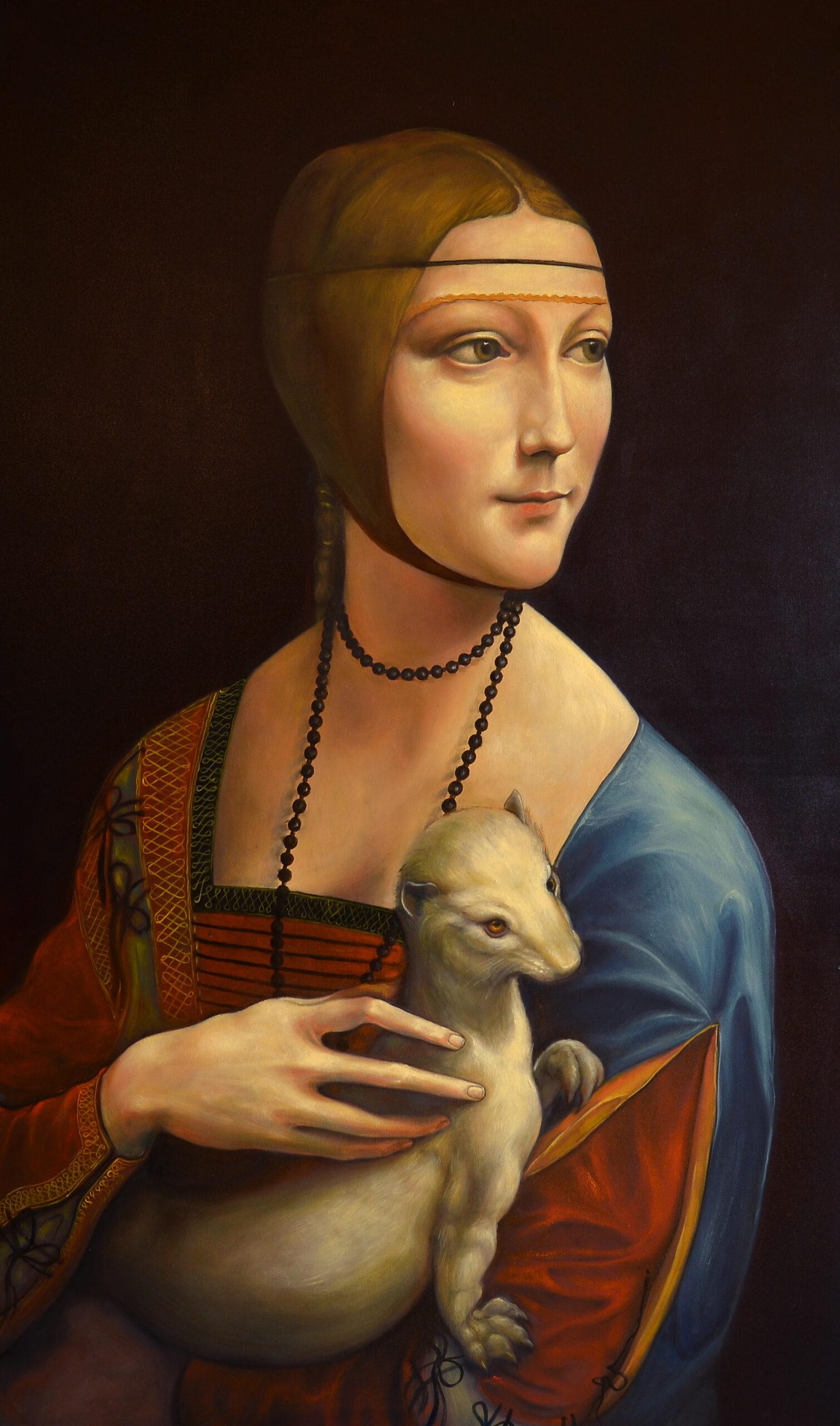 Jibran Shahid<br></br>'After Leonardo'<br></br>Oil On Canvas<br></br>60x36 inches